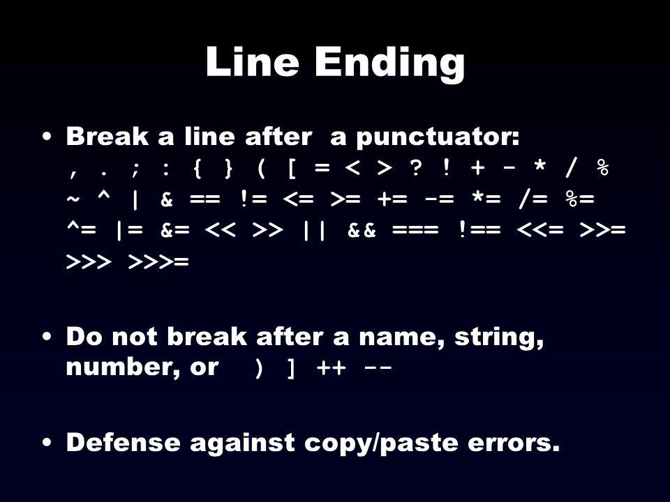 Line Ending