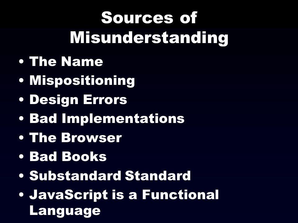 Sources of Misunderstanding