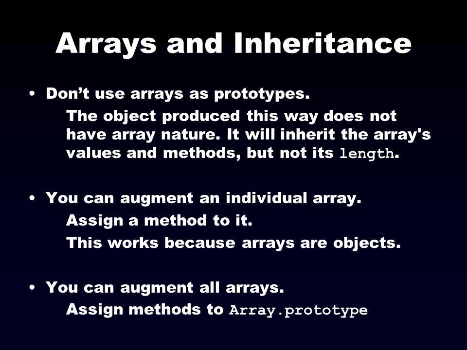 Arrays and Inheritance