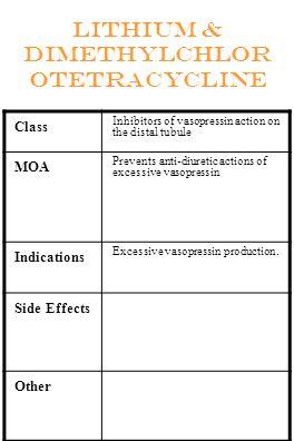Lithium & dimethylchlorotetracycline