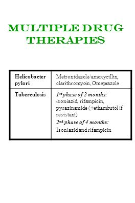 Multiple drug therapies