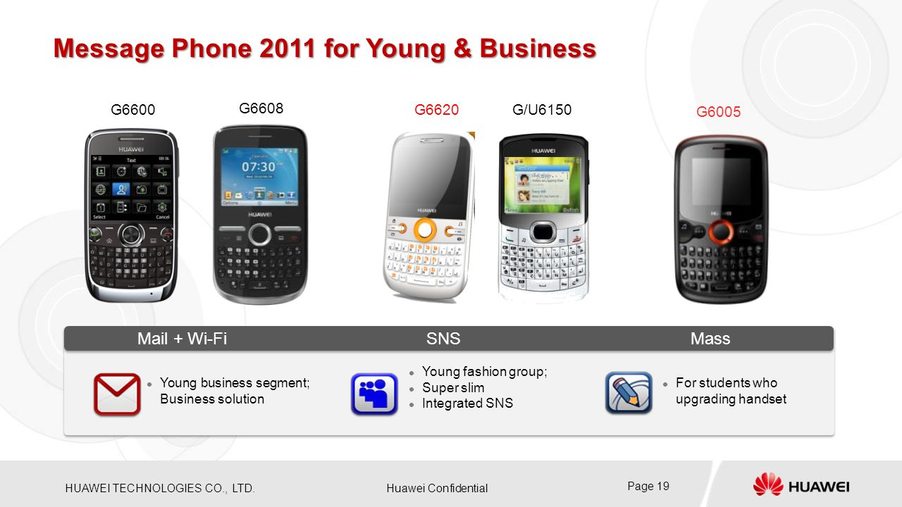 Message Phone 2011 for Young & Business