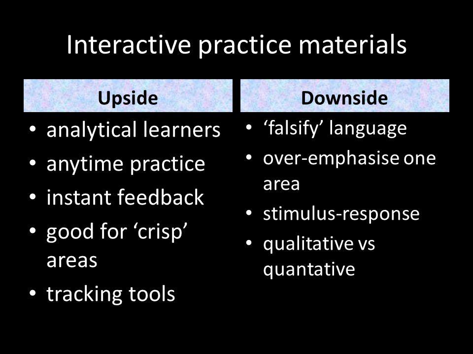 Interactive practice materials