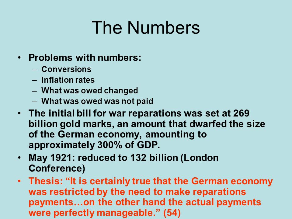 The Numbers Problems with numbers: