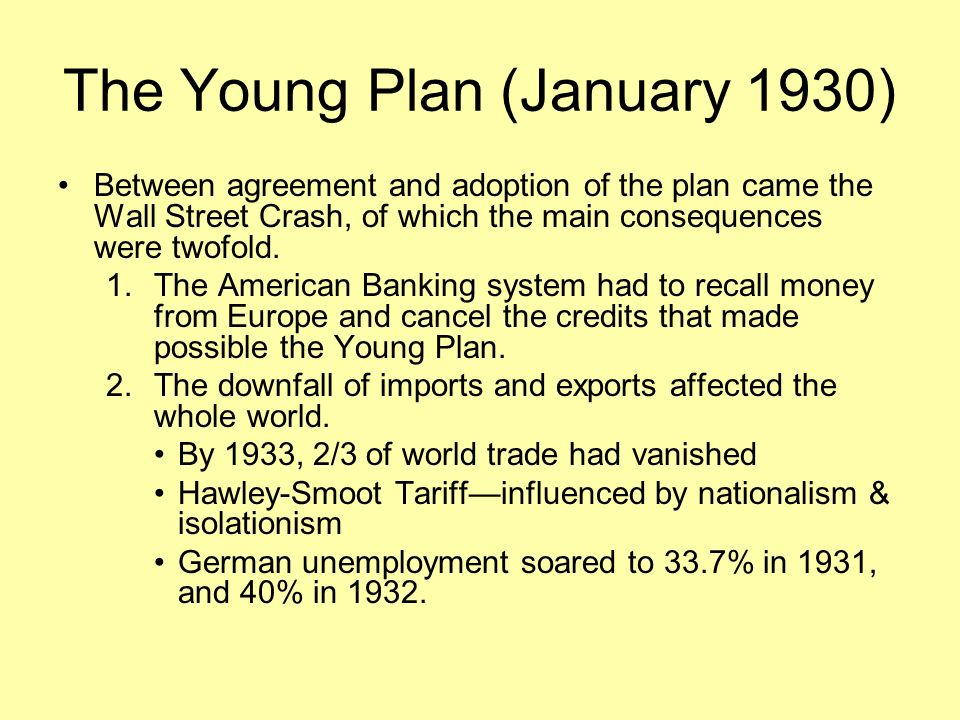 The Young Plan (January 1930)