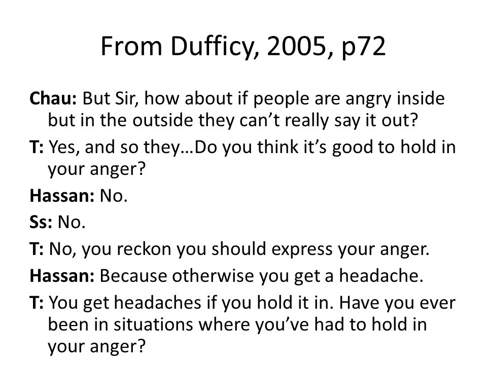 From Dufficy, 2005, p72