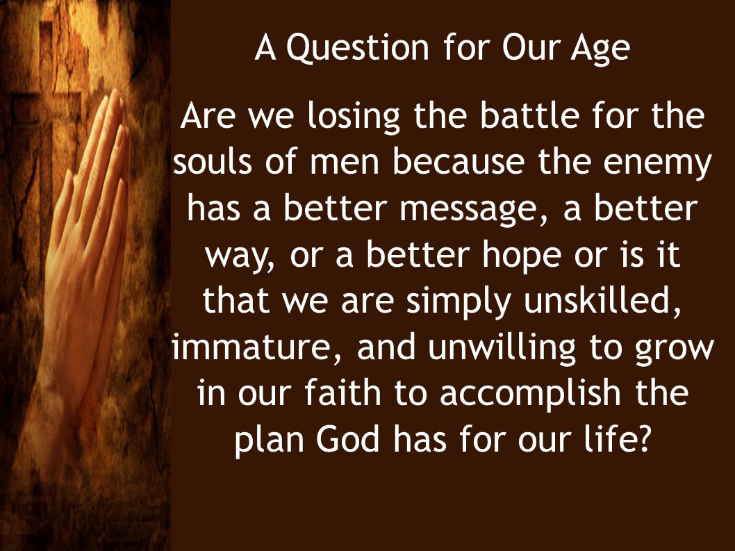 A Question for Our Age