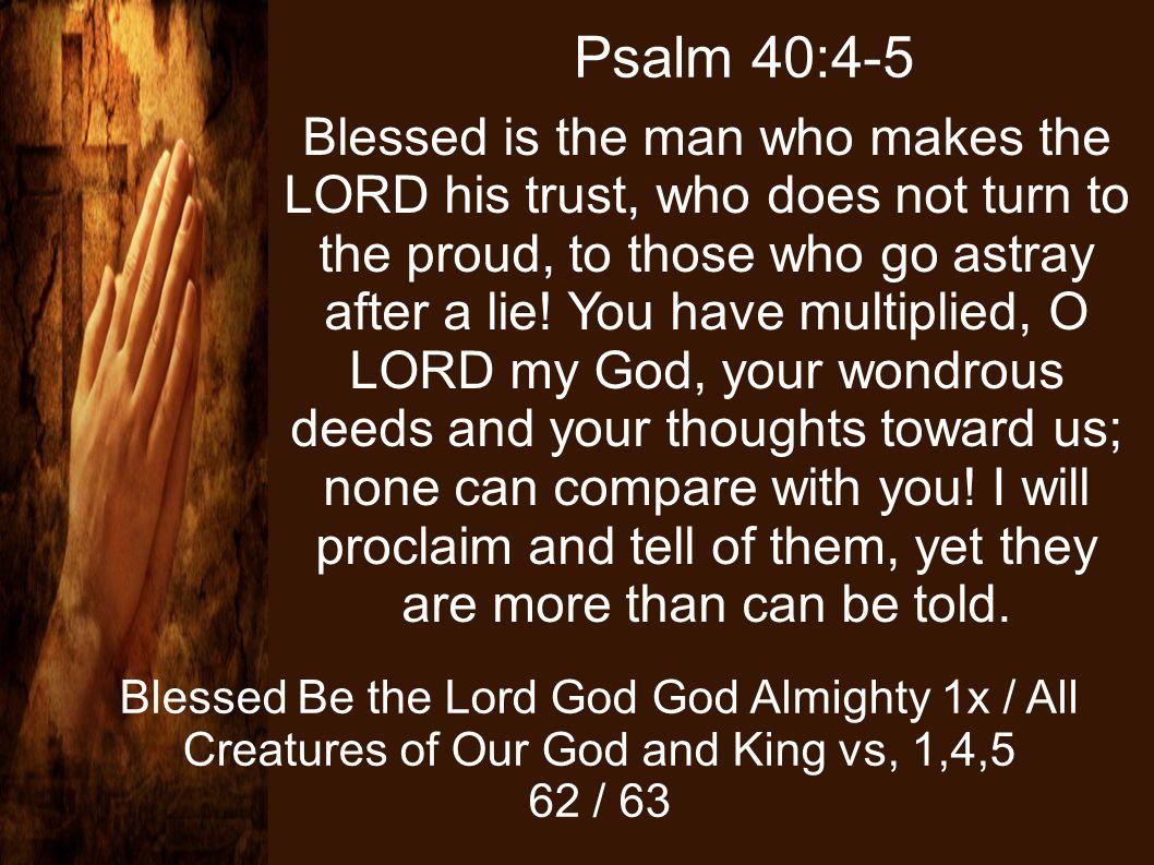 Psalm 40:4-5