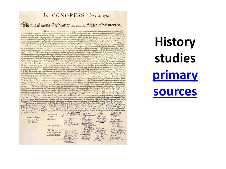 History studies primary sources