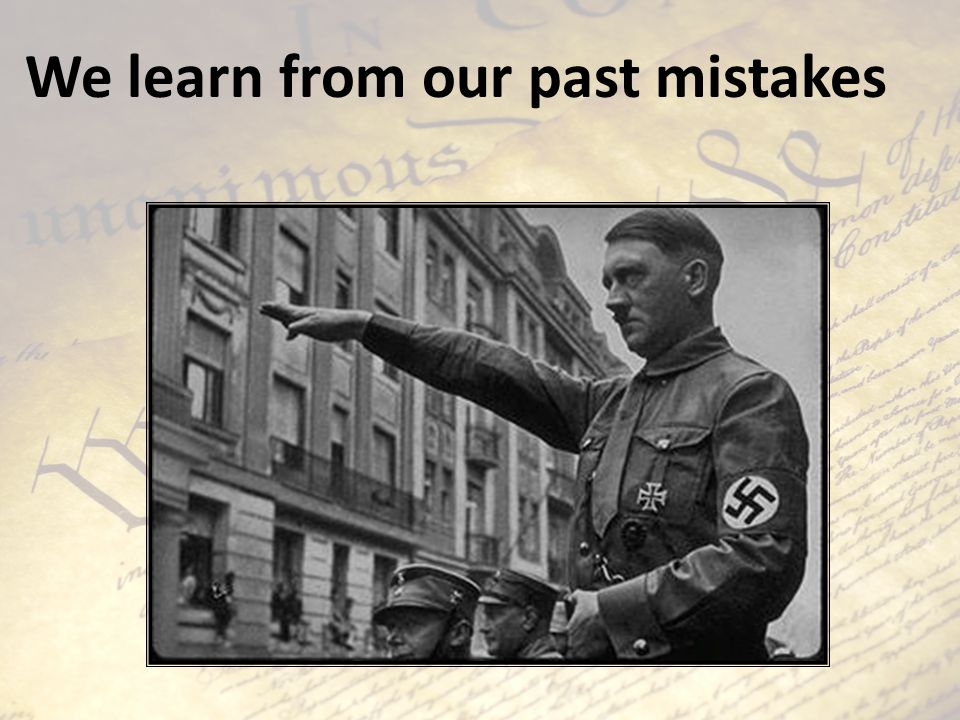 We learn from our past mistakes