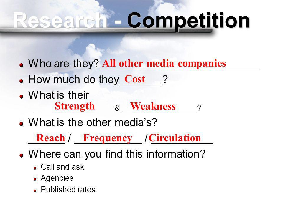 Research - Competition