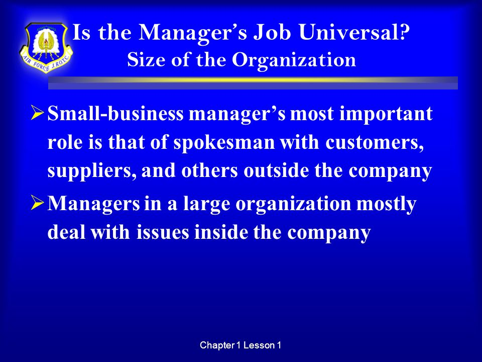 Is the Manager's Job Universal Size of the Organization