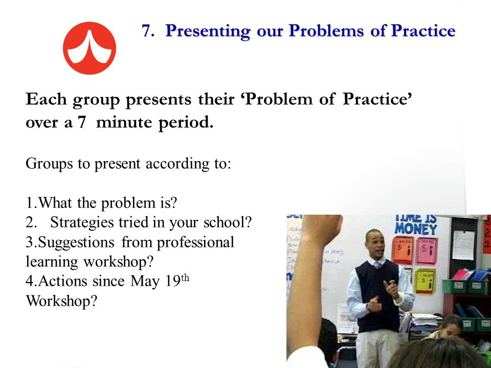 7. Presenting our Problems of Practice