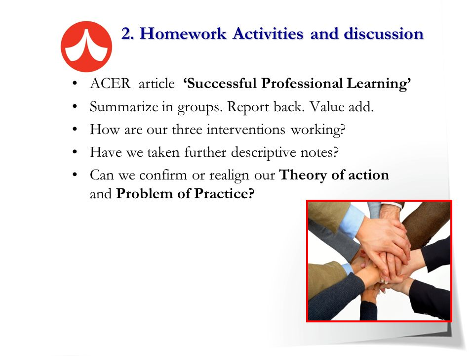 2. Homework Activities and discussion
