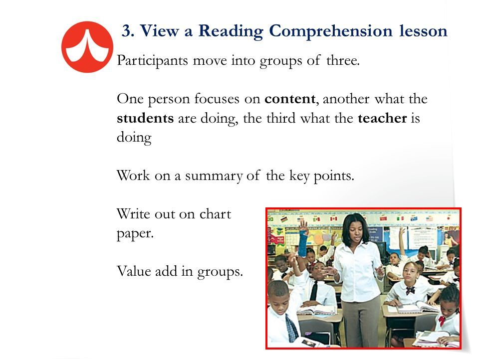 3. View a Reading Comprehension lesson