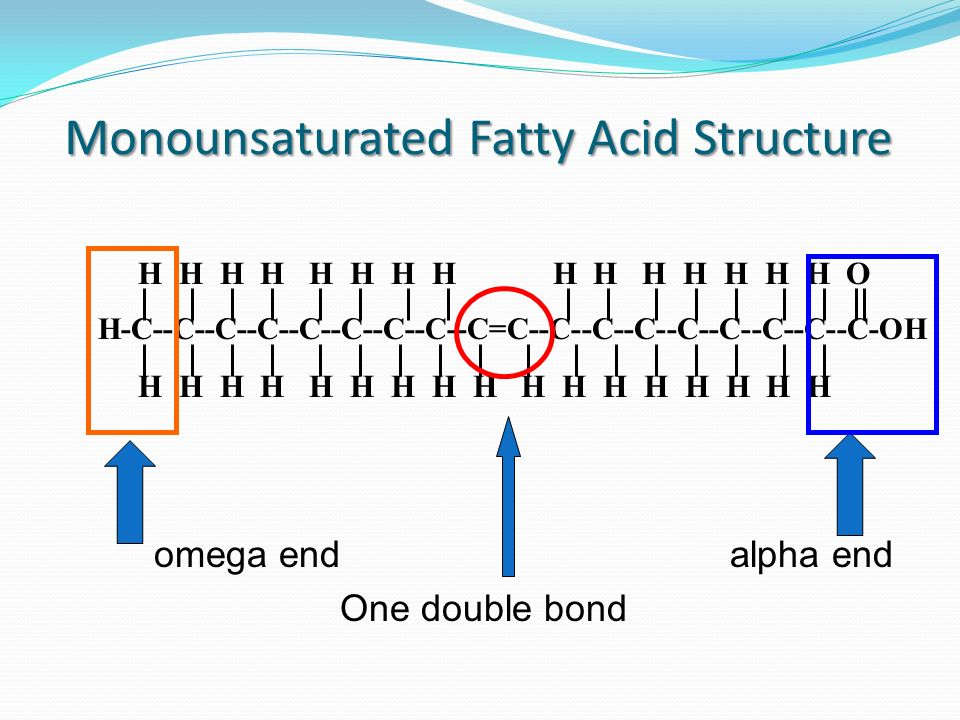 Monounsaturated Fatty Acid Structure