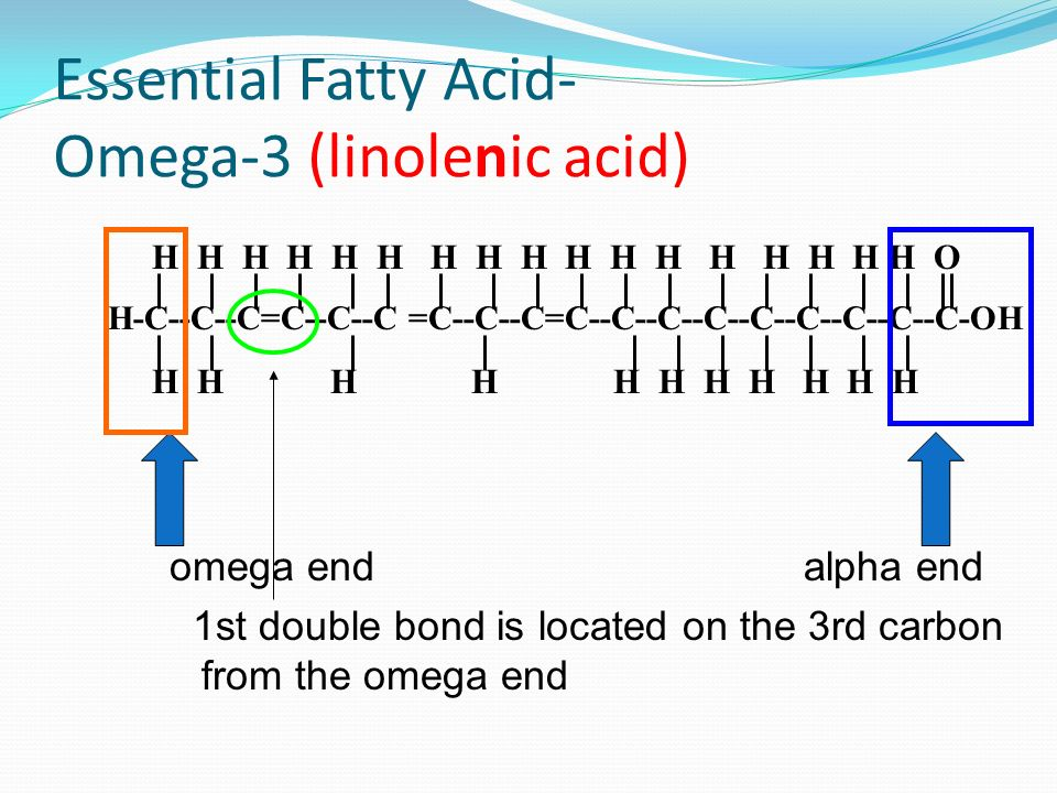 Essential Fatty Acid- Omega-3 (linolenic acid)