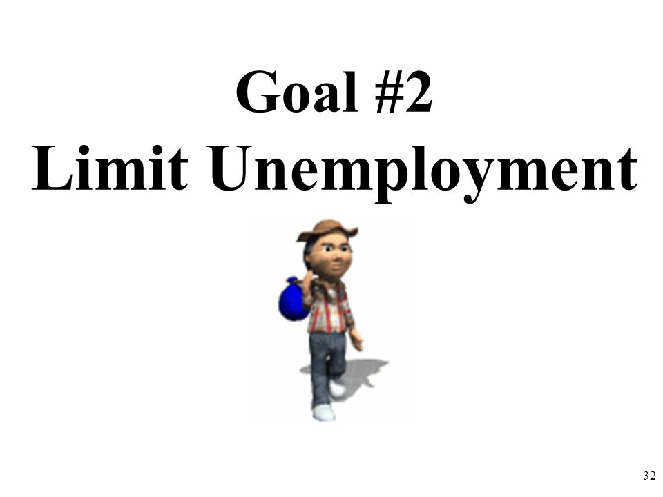Goal #2 Limit Unemployment 32