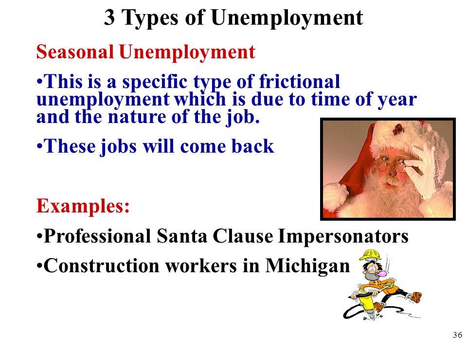 3 Types of Unemployment Seasonal Unemployment