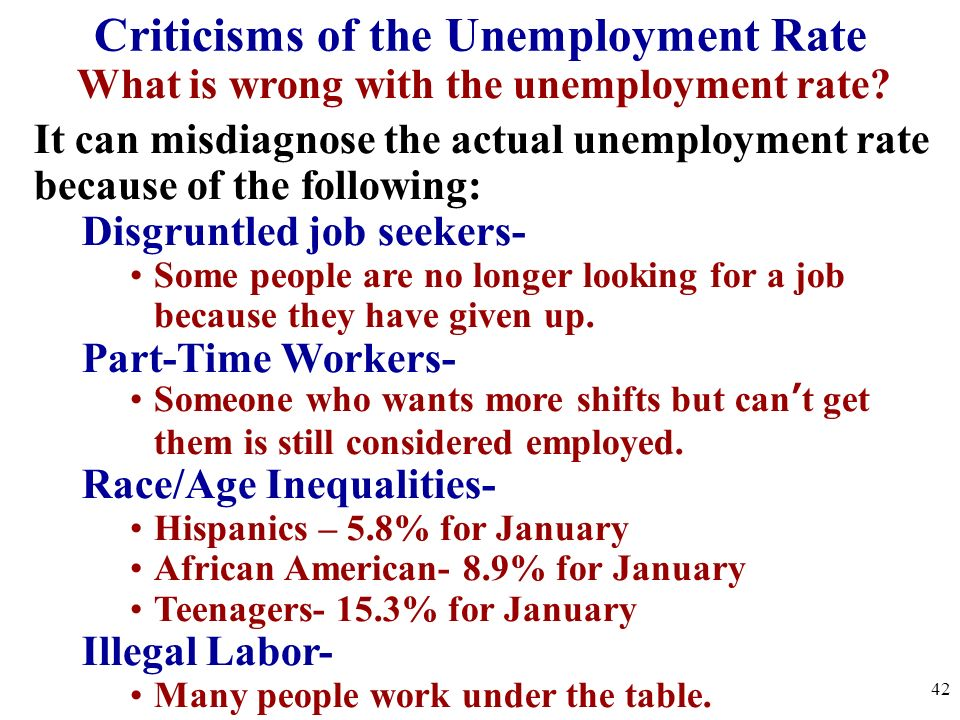 Criticisms of the Unemployment Rate
