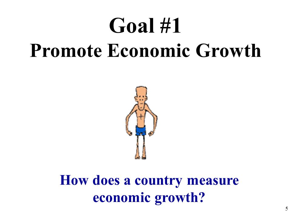 Promote Economic Growth How does a country measure