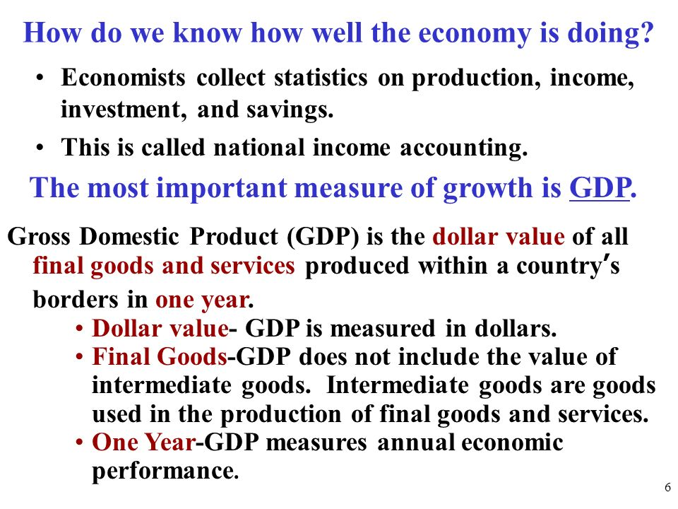 How do we know how well the economy is doing