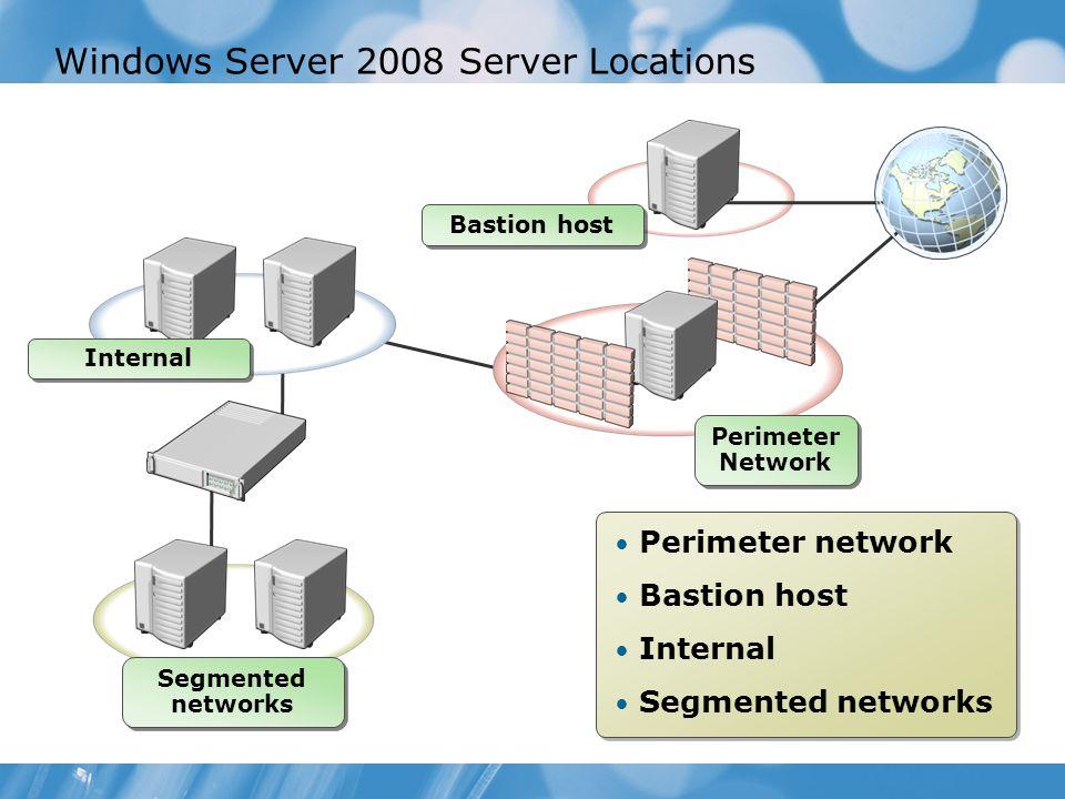 Windows Server 2008 Server Locations