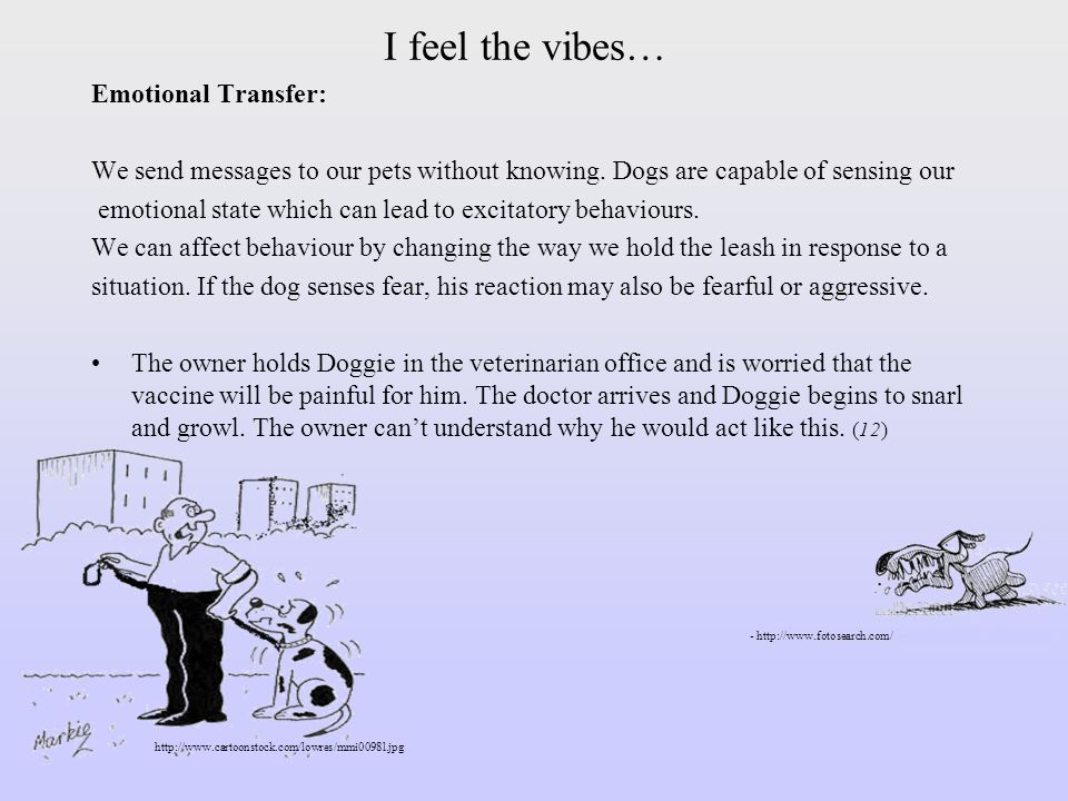 I feel the vibes… Emotional Transfer: