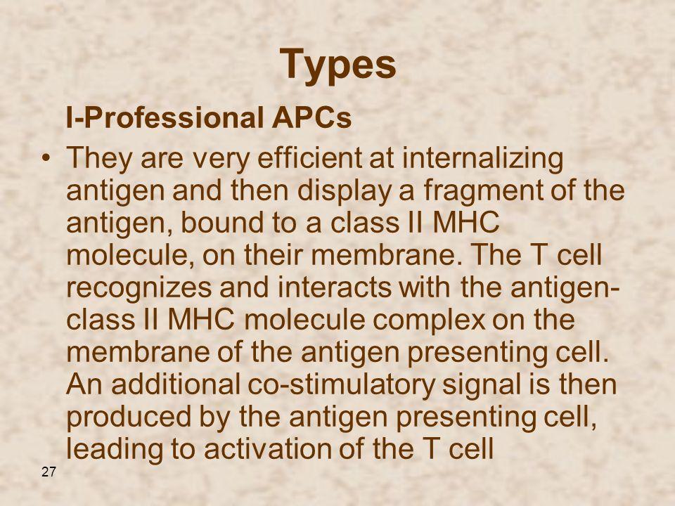 Types I-Professional APCs