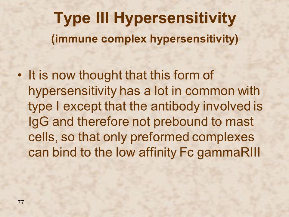 Type III Hypersensitivity immune complex hypersensitivity))