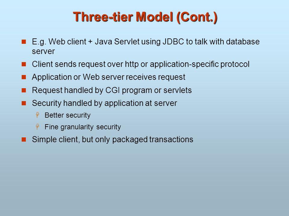 Three-tier Model (Cont.)