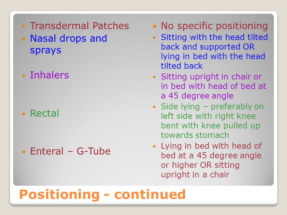 Positioning - continued