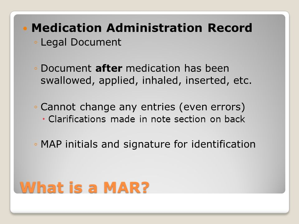 What is a MAR Medication Administration Record Legal Document