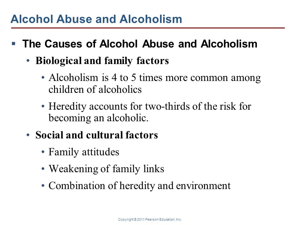 alcoholism heredity or environment essay Environmental factors, as well as gene and environment interactions account for the remainder of the risk genetics of alcohol use disorder.