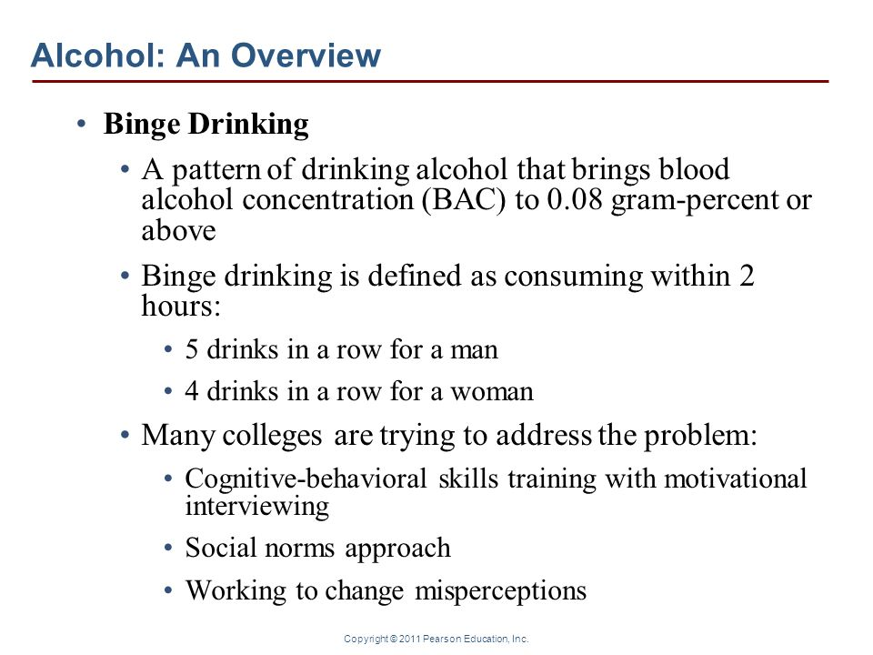 Alcohol: An Overview Binge Drinking