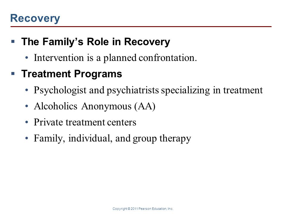 Recovery The Family's Role in Recovery