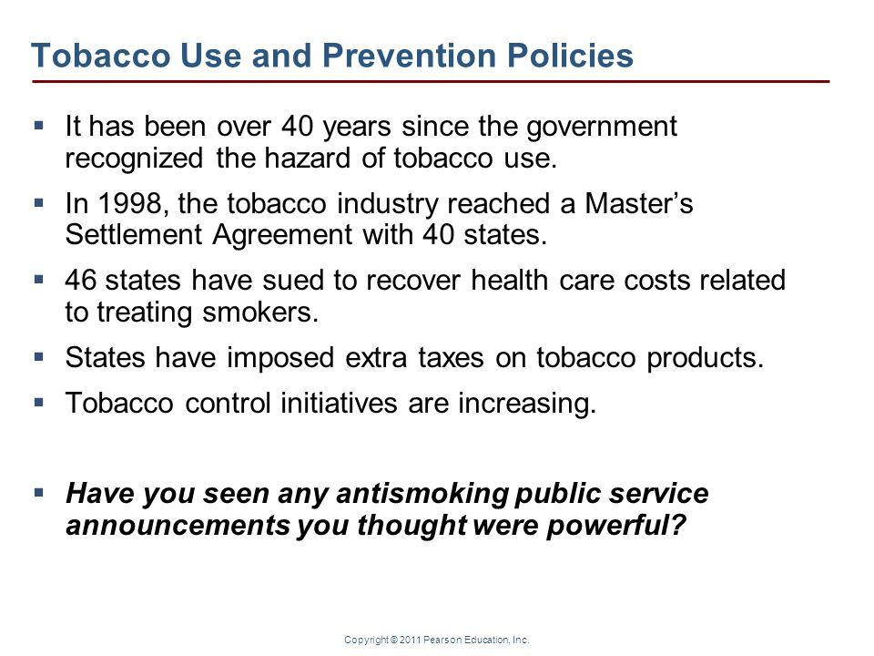 Tobacco Use and Prevention Policies