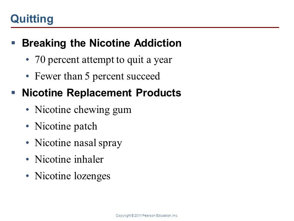 Quitting Breaking the Nicotine Addiction