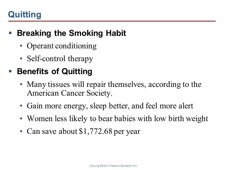 Quitting Breaking the Smoking Habit Operant conditioning