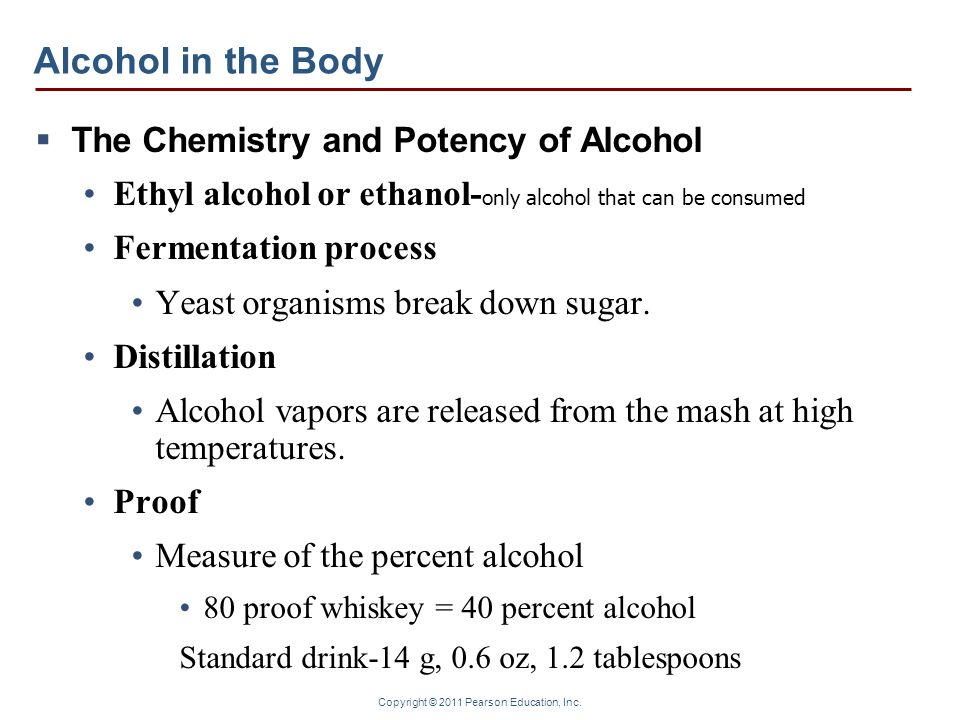 Alcohol in the Body The Chemistry and Potency of Alcohol