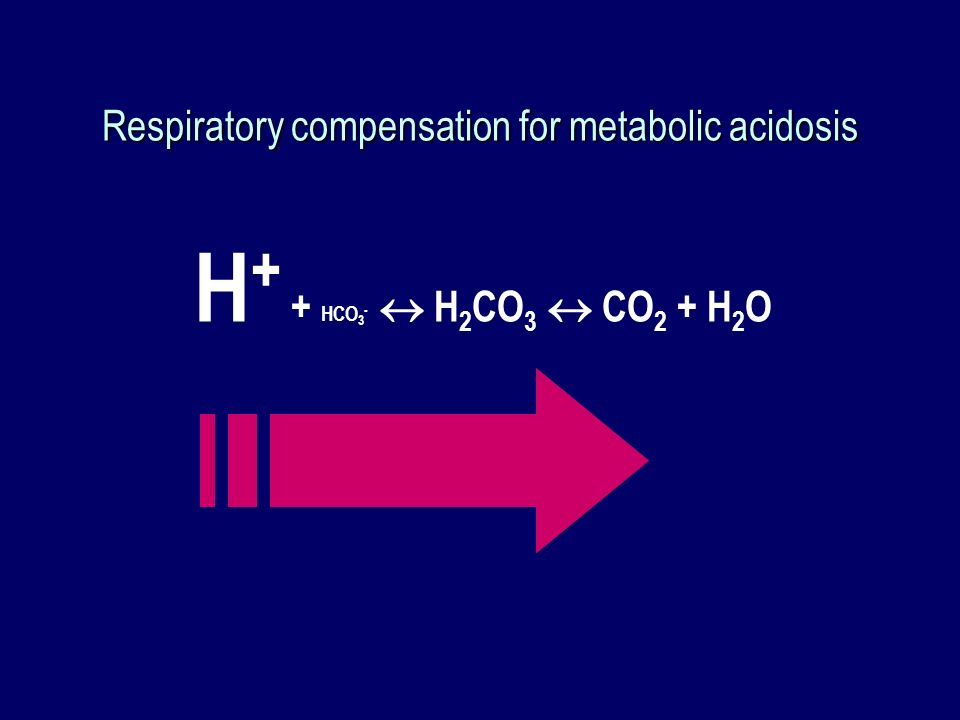 Respiratory compensation for metabolic acidosis