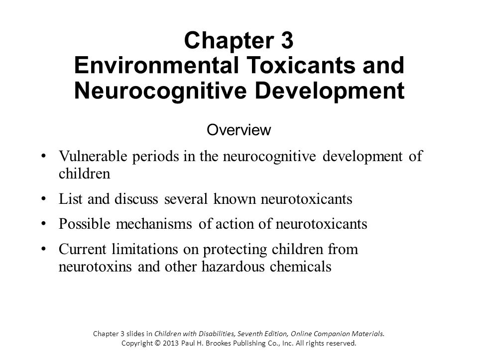 Chapter 3 Environmental Toxicants and Neurocognitive Development