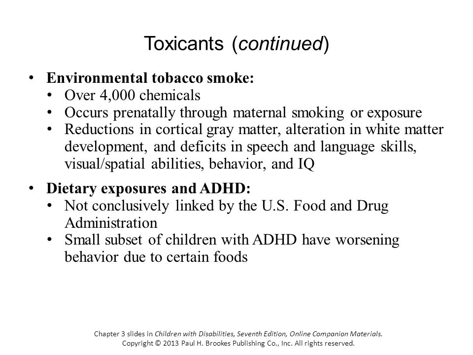 Toxicants (continued)
