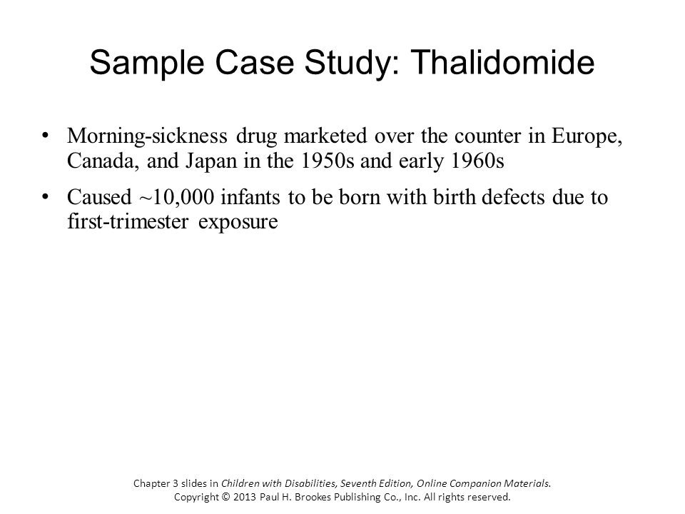 Sample Case Study: Thalidomide