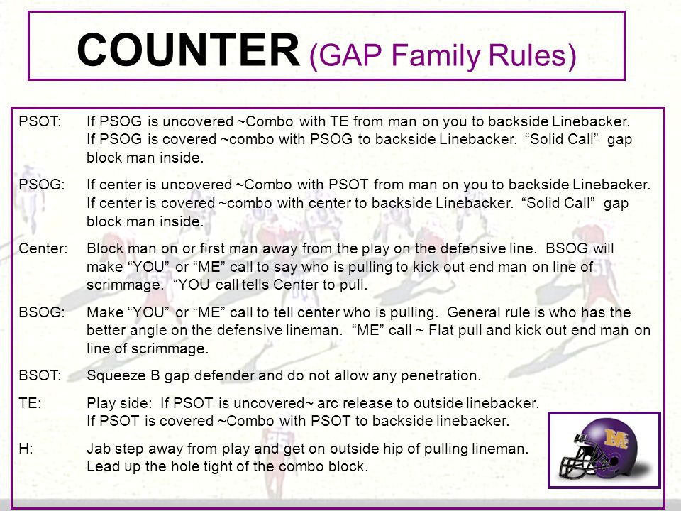 COUNTER (GAP Family Rules)