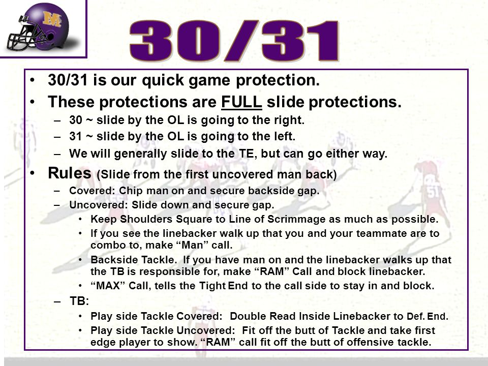 30/31 30/31 is our quick game protection.