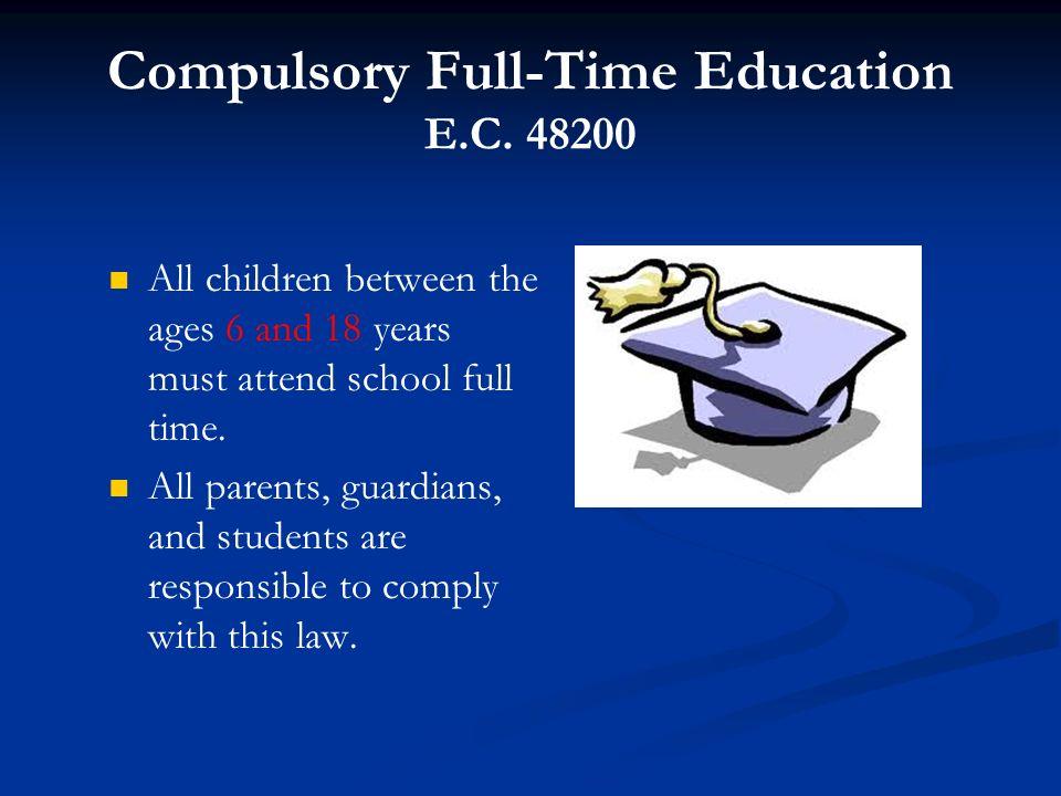 Compulsory Full-Time Education E.C. 48200