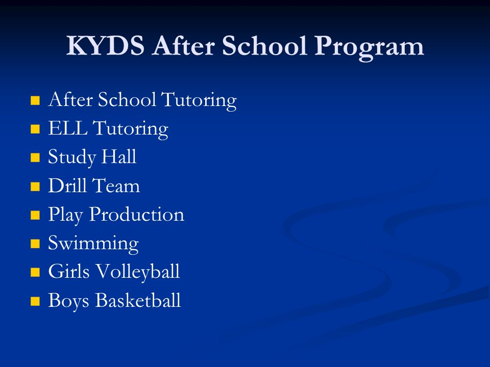 KYDS After School Program