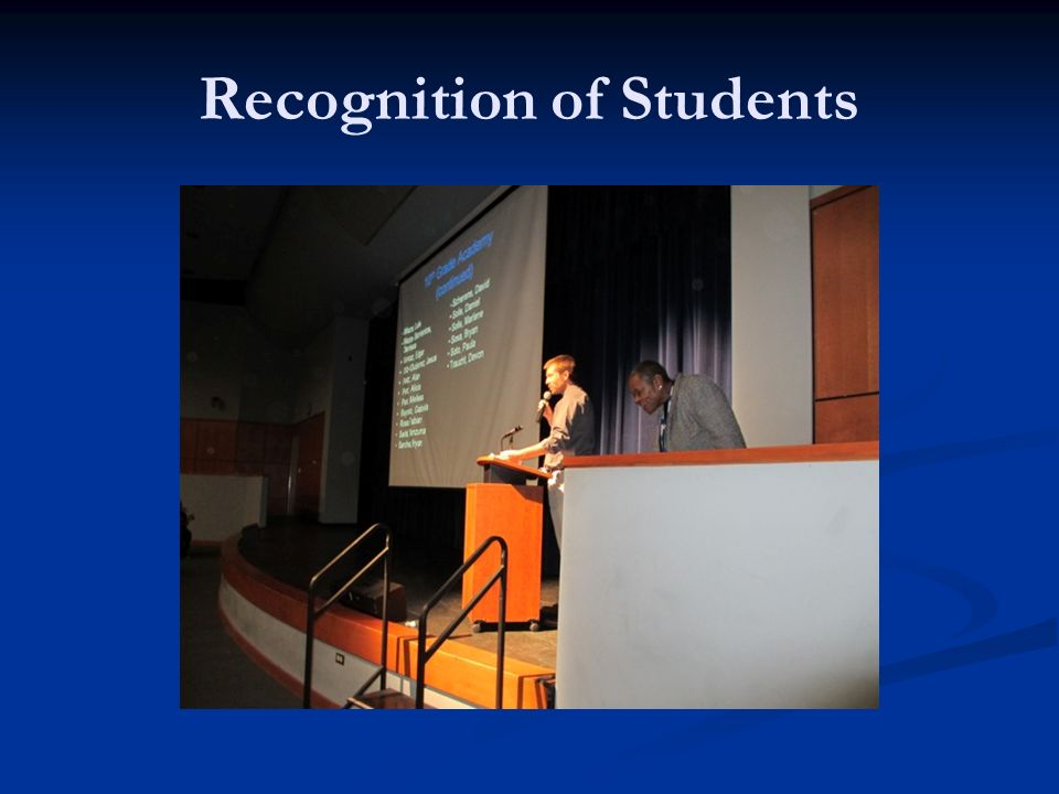 Recognition of Students