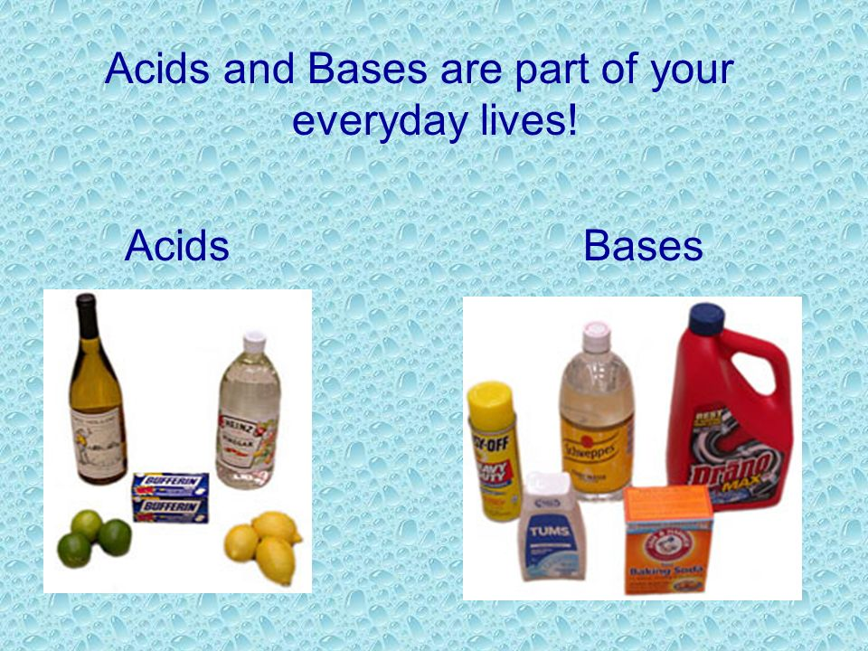 Acids and Bases are part of your everyday lives!